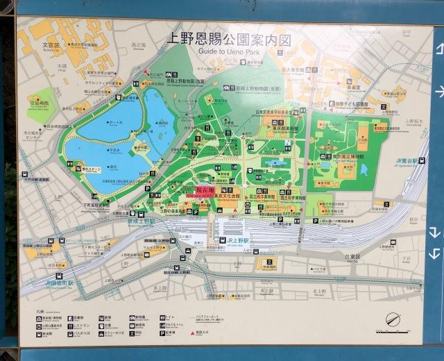 Ueno park map
